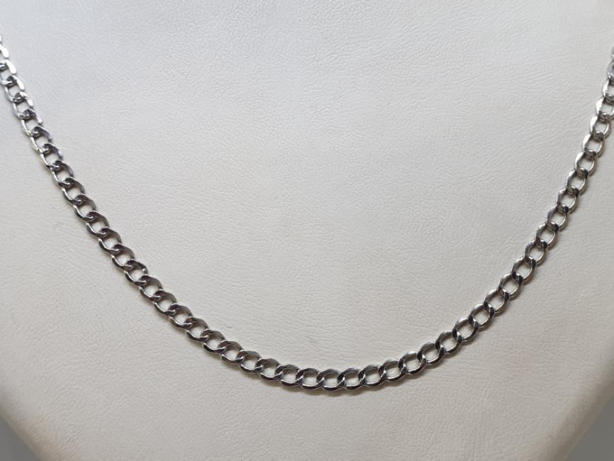 Zlatni lanac od belog zlata pancir