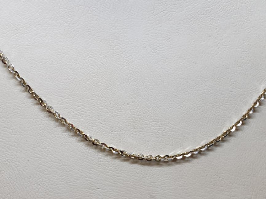 Zlatni lanac žuto-beli anker