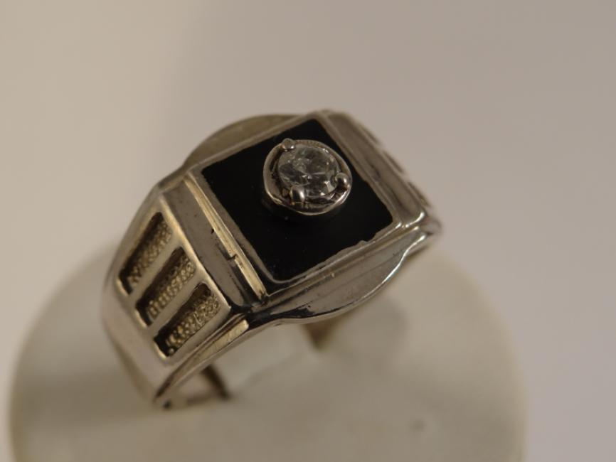 Mans ring onix