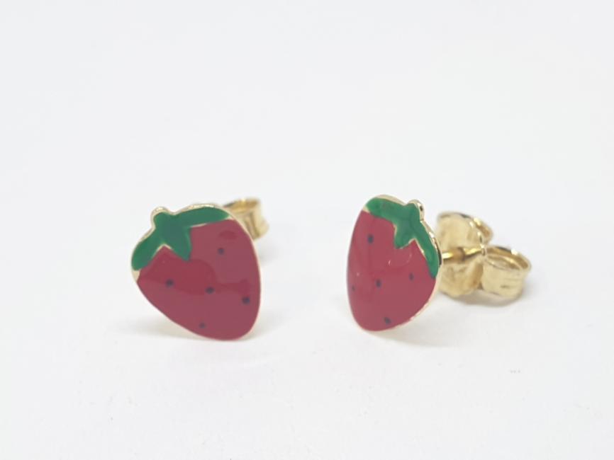 Minđuše dečije sa jagodama